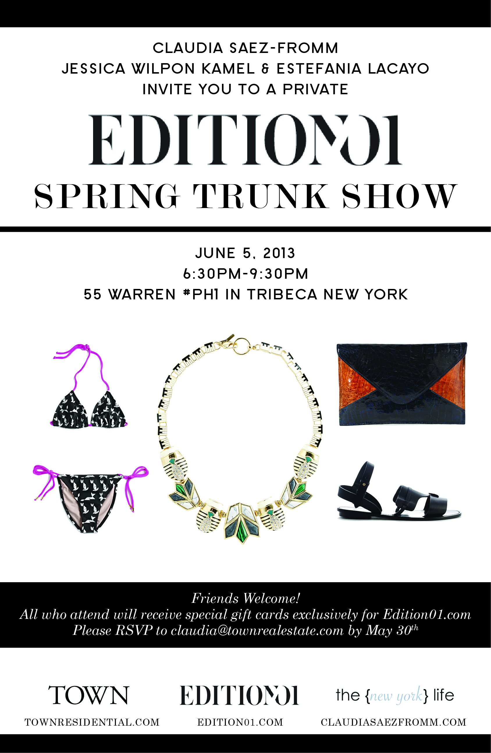 Spring Trunk Show Handout Front