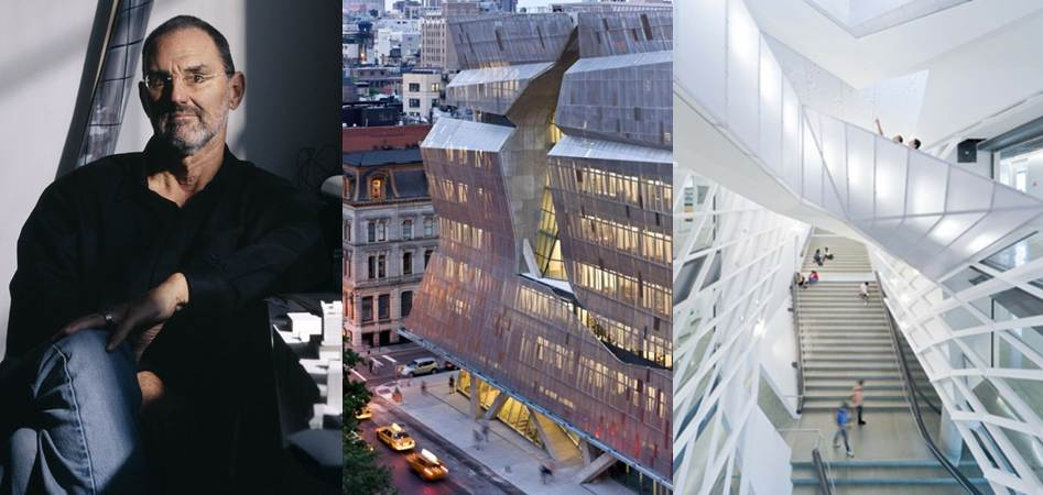Thom Mayne, 41 Cooper Square Facade and Interior