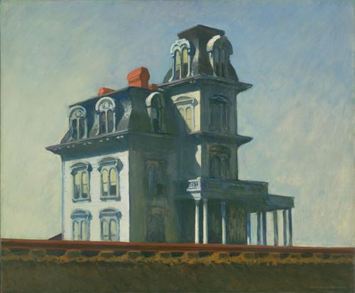 "Edward Hopper. House by the Railroad. 1925. Oil on canvas, 24 x 29"" (61 x 73.7 cm)."