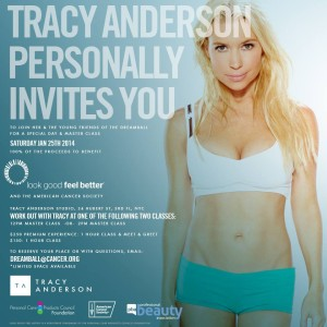 Tracy Anderson Dreamball and the Amercian Cancer Society