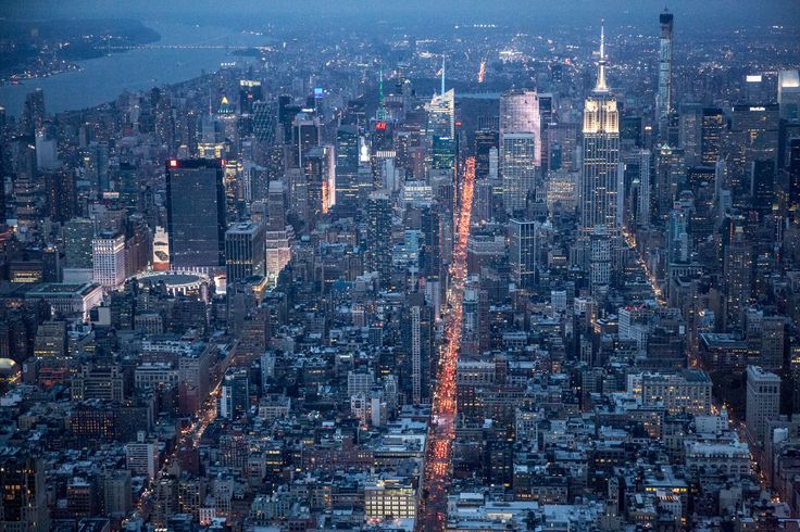 Aerial Photographer George Steinmetz Takes a Helicopter Ride to Vogue's New Digs