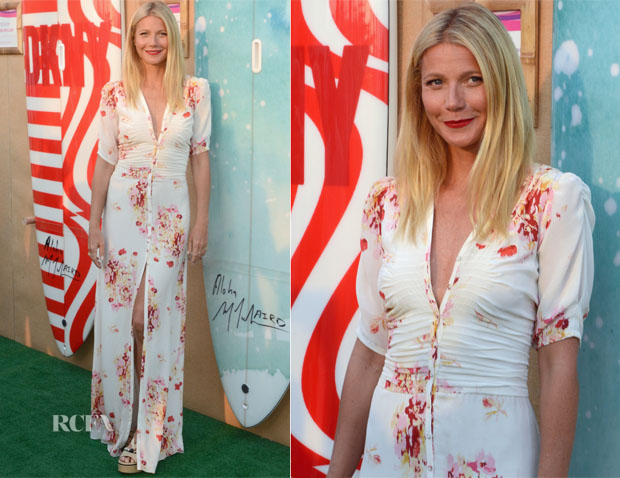 Gwyneth Paltro in Pia Tjelta by Ti Mo The Hamptons Paddle & Party for Pink 2015