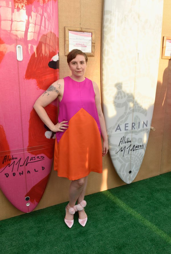 Lena Dunham Paddle & Party for Pink