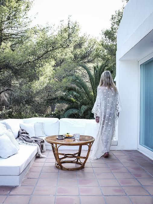 Upper seating area Can Mimosa Villa Ibiza
