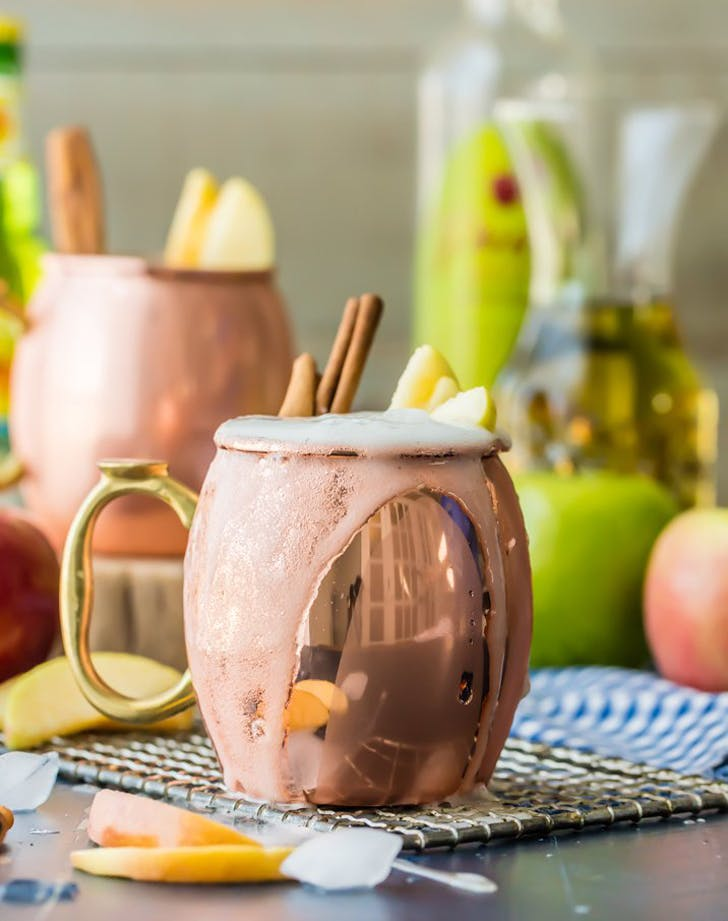 Fall Cocktail Apple pie moscow mule