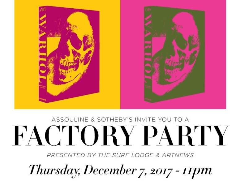 Assouline x Sotheby's Andy Warhol Factory Party