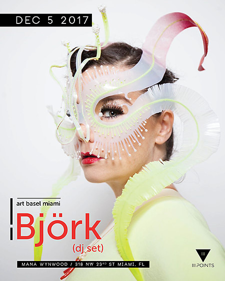 Björk At Mana Wynwood art basel guest of a guest