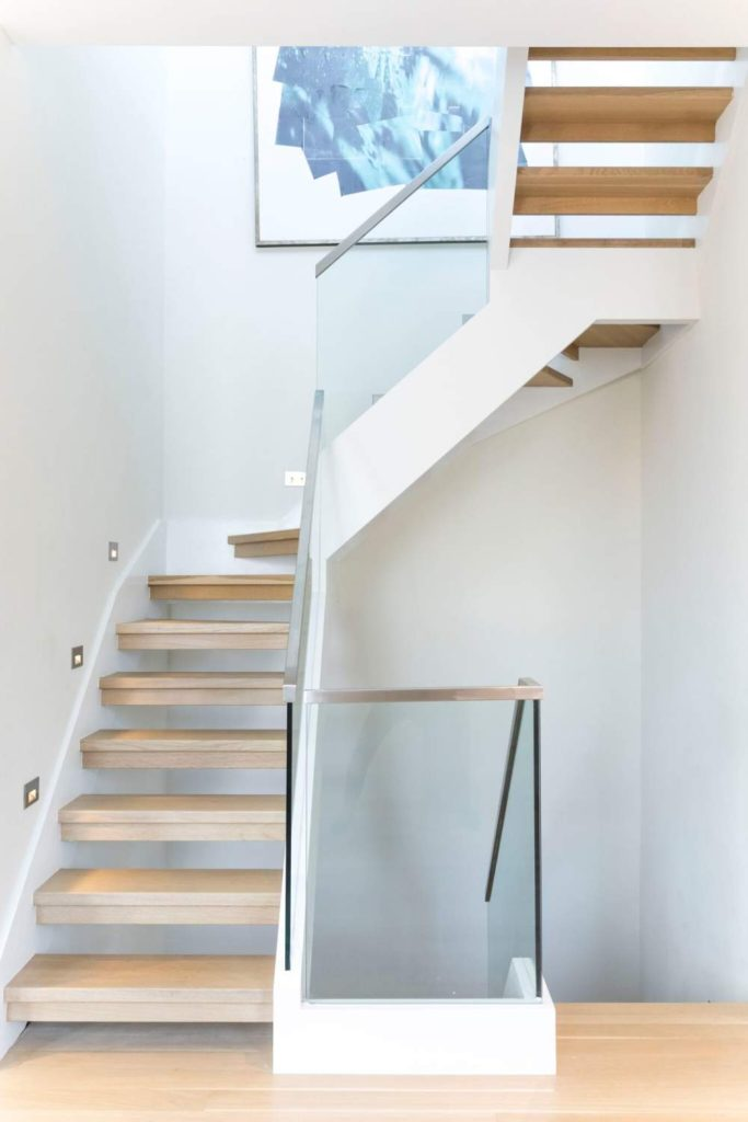 Staircase leading to a serene private roof