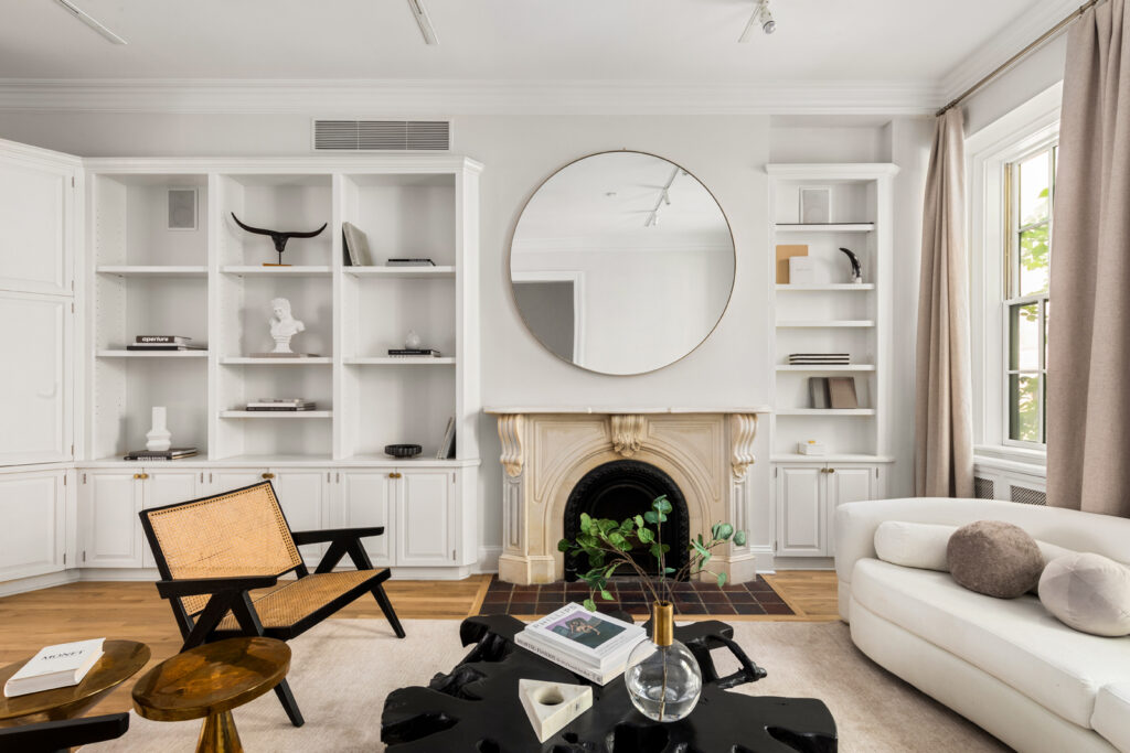 Living room of a Greenwich Village townhouse